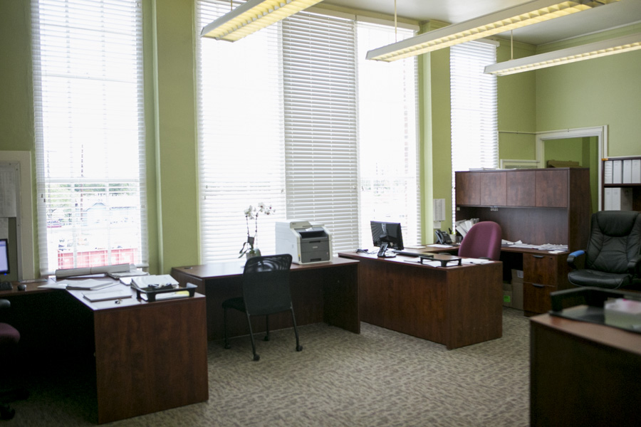 Office space in the Tejas Premier Building Contractor building. Photo by Kathryn Boyd-Batstone