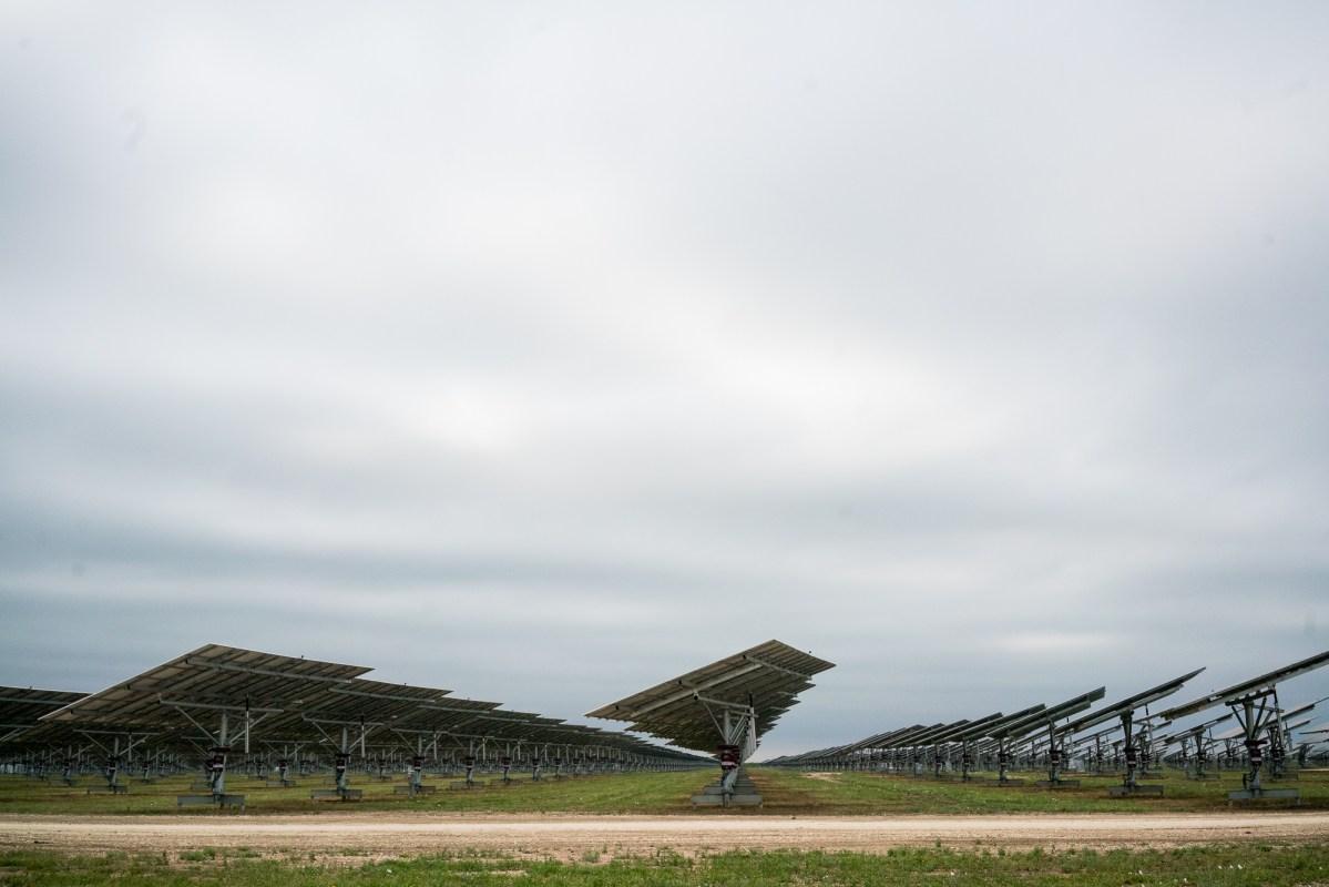 The solar power installation is located in Uvalde, TX. Photo by Kathryn Boyd-Batstone