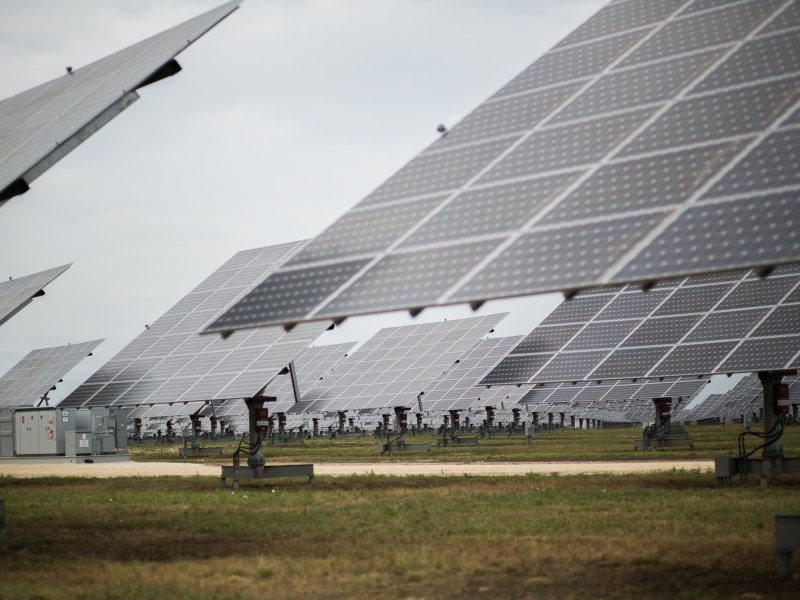 The 990-acre solar power installation includes 378,000-solar-panels. Photo by Kathryn Boyd-Batstone
