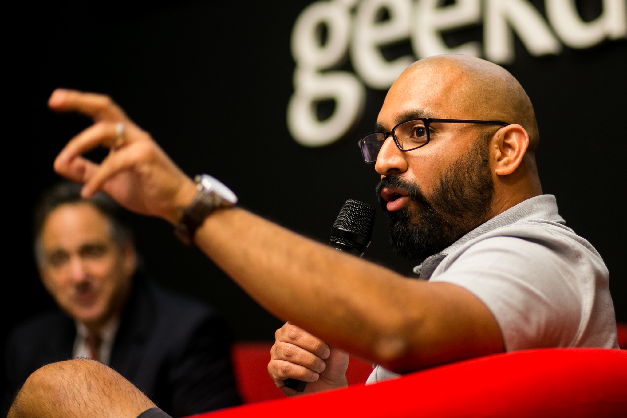 Director of Geekdom Lorenzo Gomez speaks about the importance marketing plays. Photo by Kathryn Boyd-Batstone