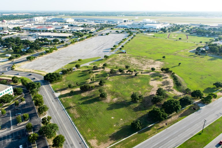 Port San Antonio's plan for new cyber facilities will be located on the corner of General McMullen Dr. and Billy Mitchell Blvd. Photo curtesy of Port of San Antonio