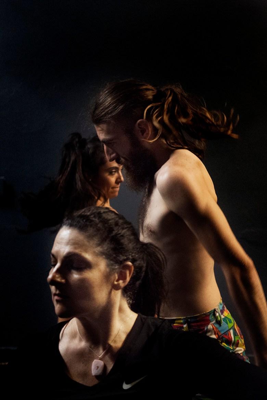 Dancers Tamara Adira, Stephan Gaeth, Rochelle Banuet perform Shiva Sits. Photo by Kathryn Boyd-Batstone