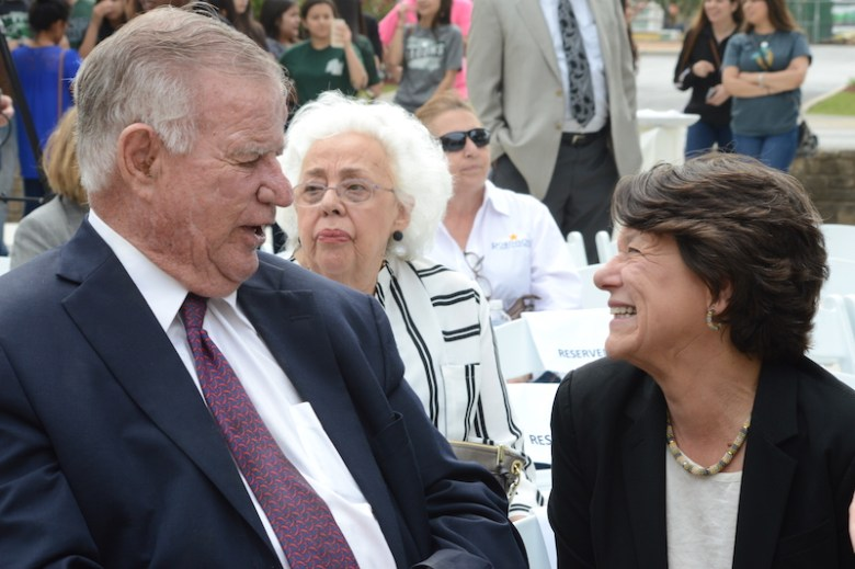 San Antonio businessman Lowry Mays shares a laugh with Witte President and CEO Marise McDermott. Photo by Lea Thompson