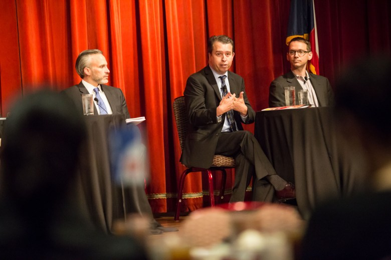 SAISD Superintendent Pedro Martinez speaks on the state of public education at the Pearl Stable on April 21, 2016. Photo by Michael Cirlos.