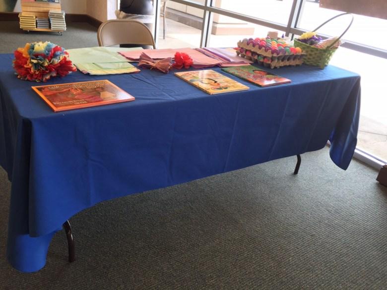 The San Antonio Youth Literacy table at the Book Buddies Fiesta & Bookfair table. Photo by Kristi Johnson.