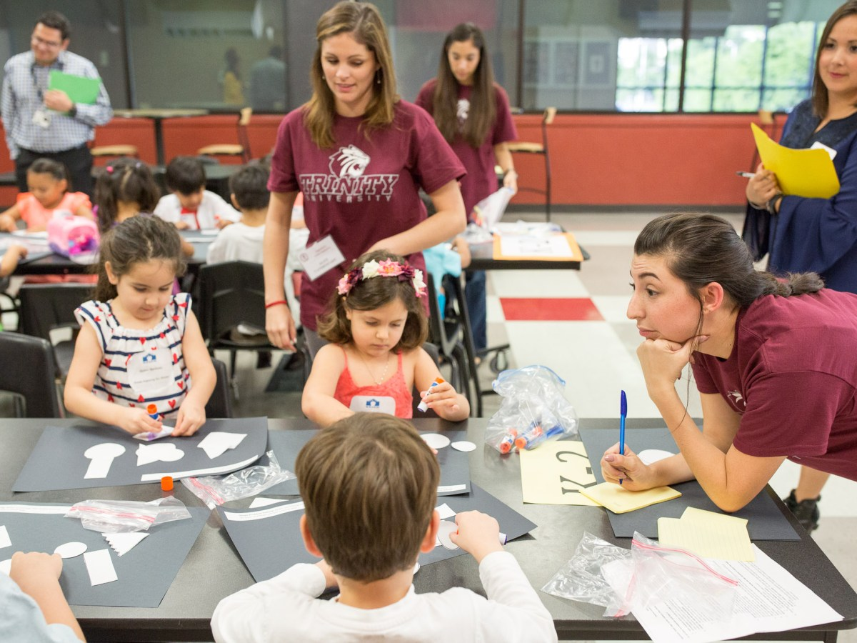 Prospective students of SAISD's Advanced and Creative Learning Academy participate in an activity that outlines the learning process at the new school.