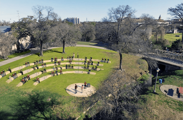 North End History and Walking Area. Courtesy of Brackenridge Park Conservancy.