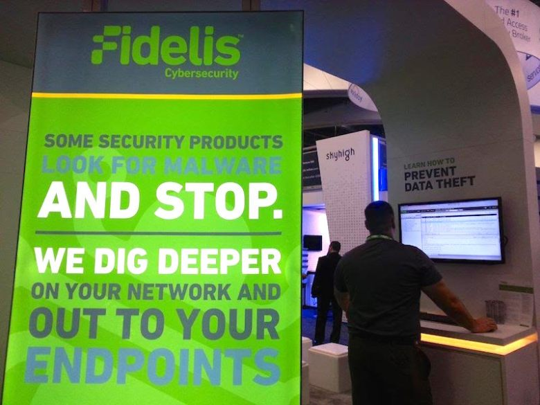 Fidelis Cybersecurity booth at the RSA Cybersecurity Conference in San Francisco March 2016. Photo Courtesy of FidelisCybersecurity.