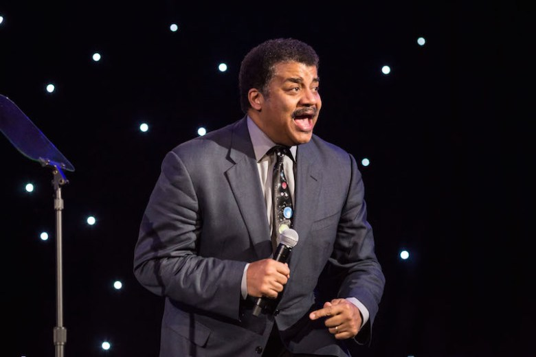 American Astrophysicist Neil deGrasse Tyson speaks at the H-E B Excellence in Education Awards. Photo by Michael Cirlos