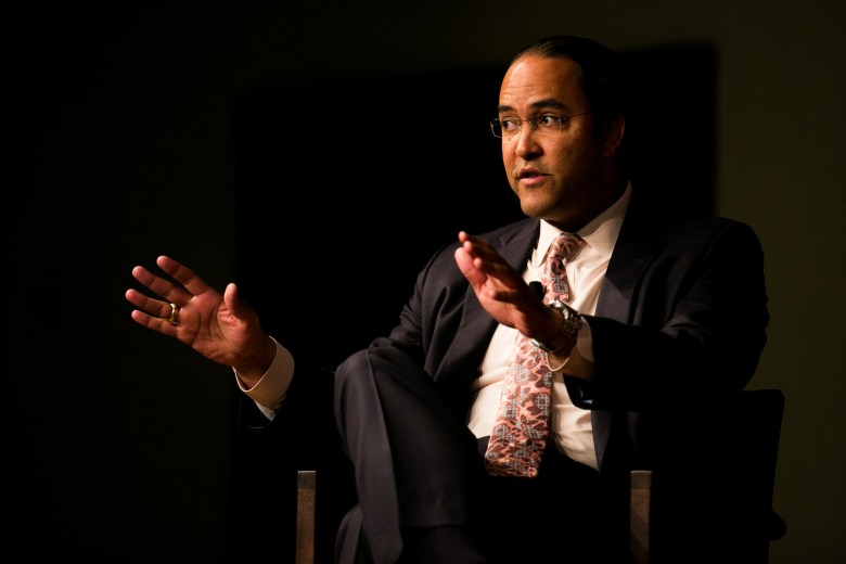 Congressman Will Hurd, who serves as Chairman of the IT Subcommittee of the House Committee on Oversight & Government Reform, speaks about federal government spending for national security. Photo by Kathryn Boyd-Batstone