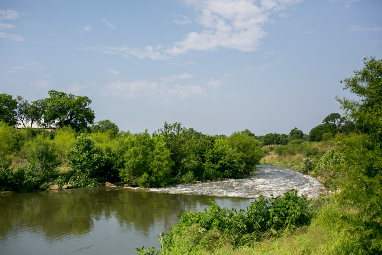 The San Antonio River runs parallel to the future Confluence Park. Photo by Kathryn Boyd-Batstone