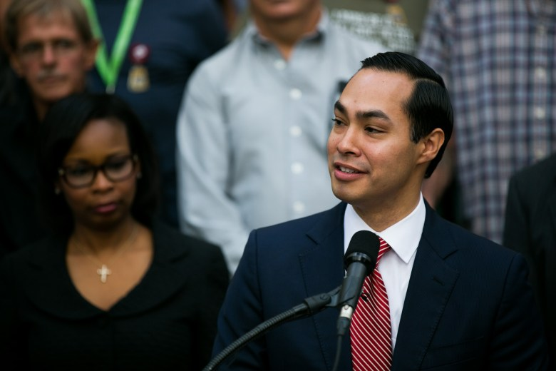 Secretary, U.S. Department of Housing and Urban Development Julián Castro describes how this effort came together because of a coalition of partners. Photo by Kathryn Boyd-Batstone