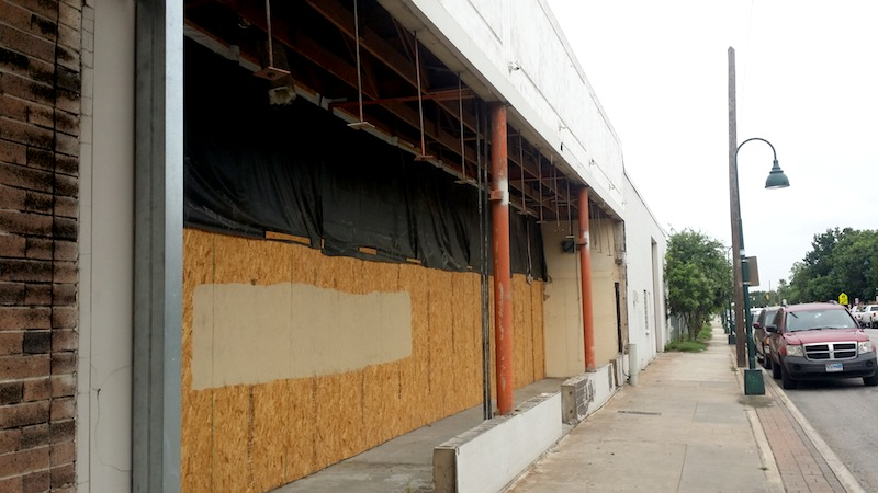 Renovation/construction work has been started on adjacent storefronts on the property. Photo by Iris Dimmick.