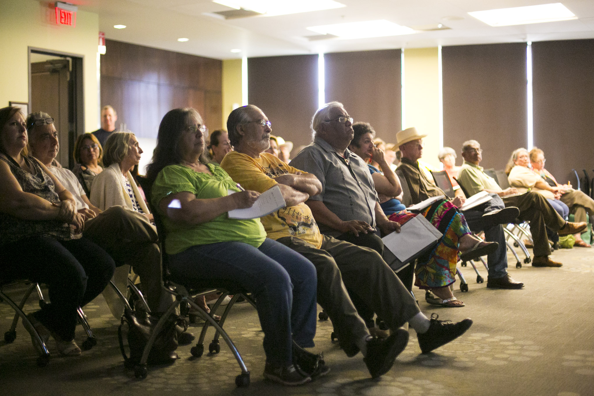 A couple dozen Southside residents gathered to the Alliance for San Antonio Missions meeting. Photo by Kathryn Boyd-Batstone