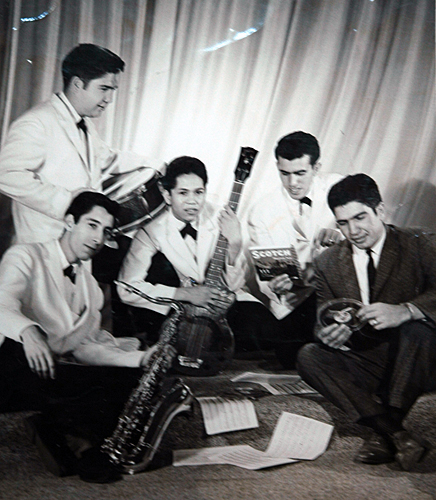 Rudy and the Reno Bops, circa 1957.  Photo Courtesy of Rudy Tee Gonzalez
