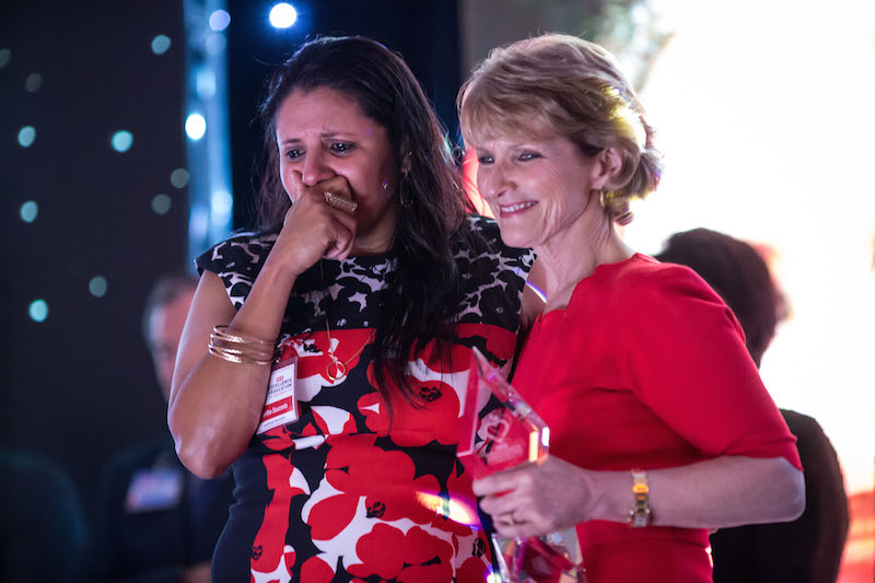 Martha Saucedo of Brady High School wins the Leadership Secondary Award. Photo by Michael Cirlos