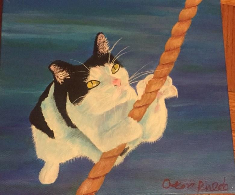 One of Oscar Pinedo's cat portraits. Courtesy image.