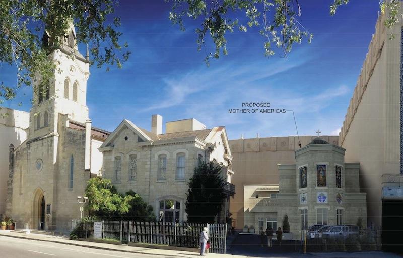 "Rendering of St. Joseph Catholic Church's new new parish hall, ""Mother of the Americas"" courtesy of Morkovsky + Associates Inc."
