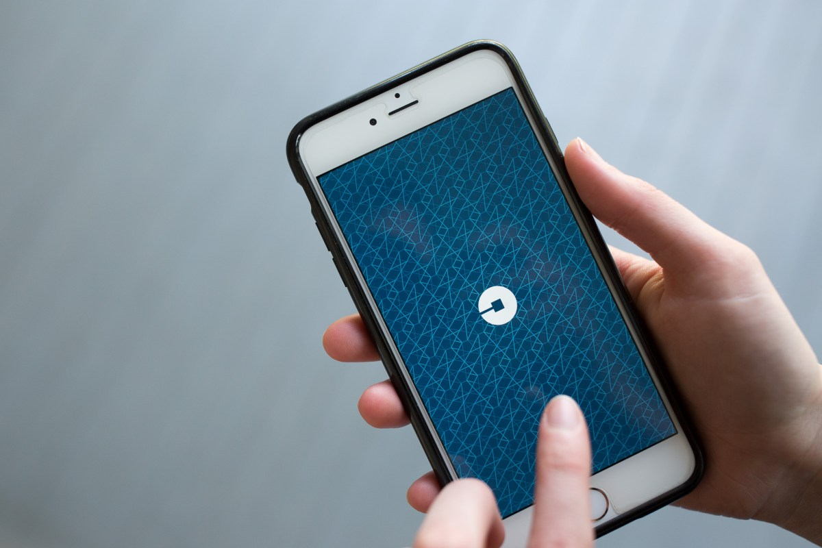 The Uber Logo as the application opens. Photo by Scott Ball.