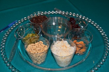 Carefully balanced trail mix (except this author ate all the walnuts). Photo by Cherise Rohr-Allegrini.