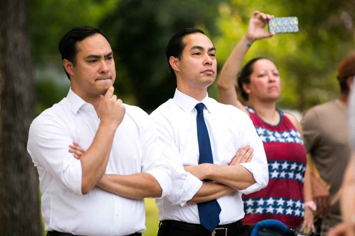 From left: Brothers U.S. Rep. Joaquín Castro (D-Texas) and former San Antonio Mayor Julián Castro have yet to formally endorse Democratic presidential nominee Joe Biden.