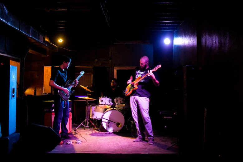 The Autumn Rhythm performs at newly reopened Ventura as part of Local Music Week. Photo by Kathryn Boyd-Batstone.