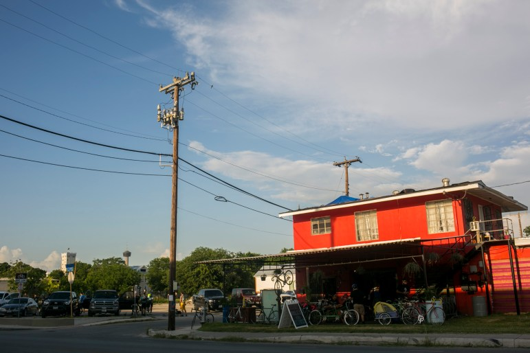 The Bike Collective is a new business on S. Flores Street. Photo by Kathryn Boyd-Batstone.