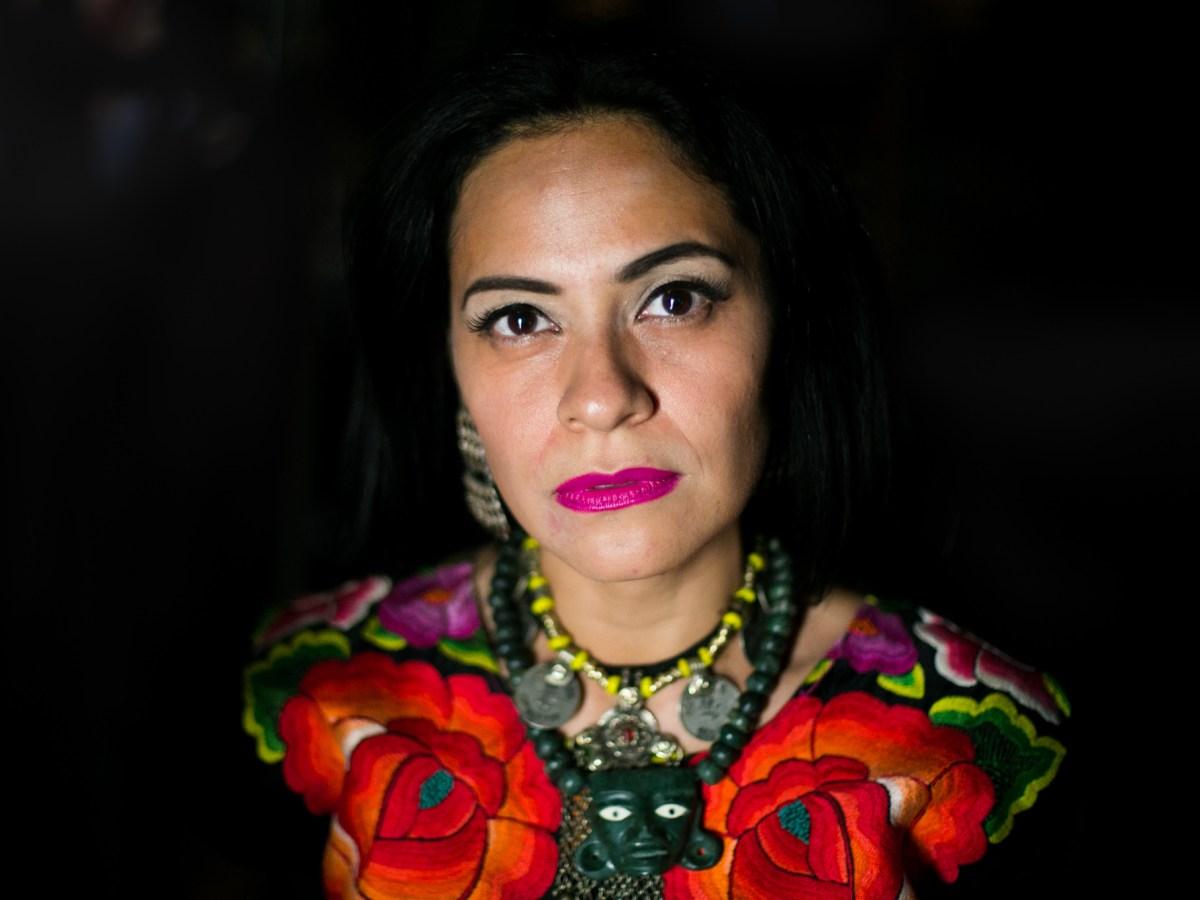 Azul Barrientos is a Mexican folk singer, songwriter, and performer. Photo by Kathryn Boyd-Batstone.