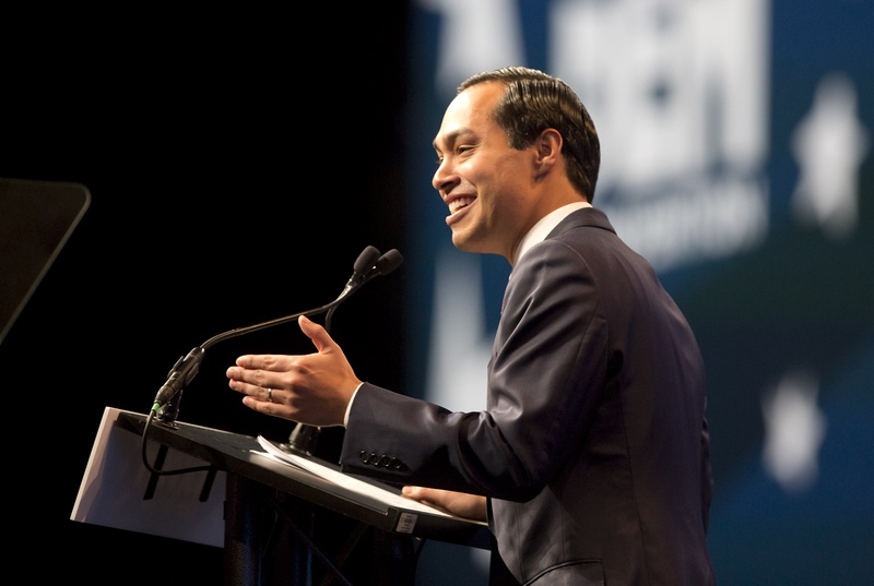 Julian Castro gives keynote speech at the Alamodome on June 17, 2016 at the Texas Democratic Convention. Photo by Marjorie Kamys Cotera for the Texas Tribune.