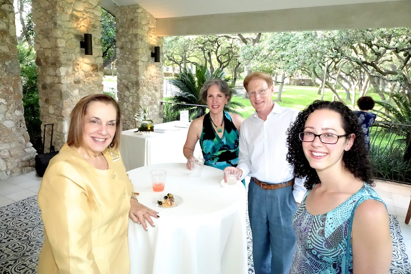 Board member Deborah Moore (left) enjoys the winners' reception with Anna and Bruce Liesman, who hosted SAIPC contestant Jeanette Aufiero of New Jersey (right). Photo by Susan Riley.