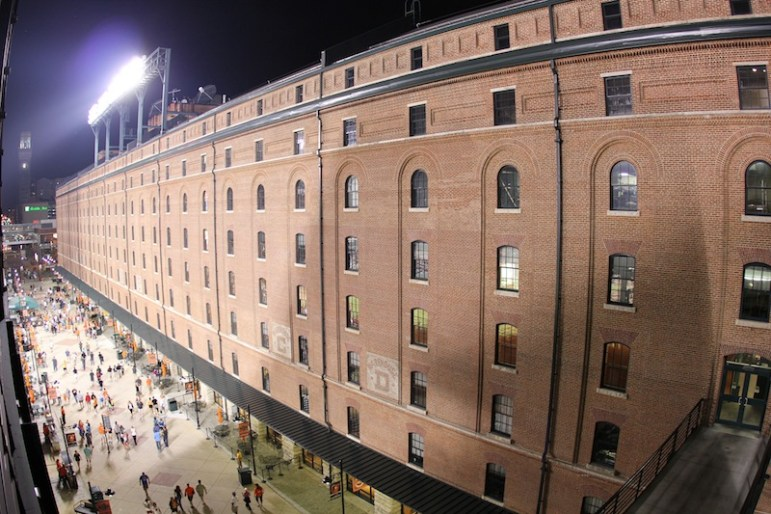 The historic B&O Warehouse is directly adjacent to Oriole Park at Camden Yards. Photo by Flickr user Daveynin.