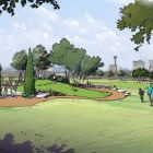 Dignowity and Lockwook parks have fantastic views of downtown San Antonio. Rendering courtesy of Public Space East.