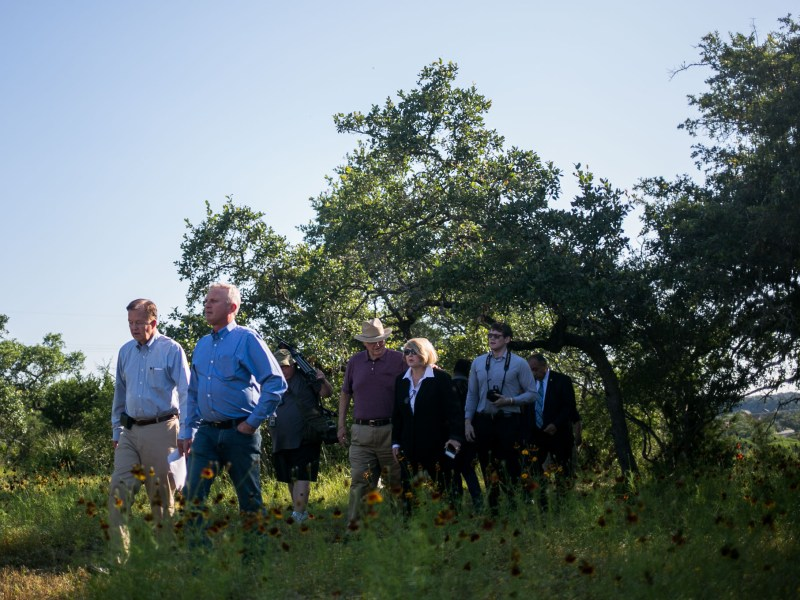 Councilman Joe Krier (D9) walks along a trail leading to to an overlook of the city. Photo by Kathryn Boyd-Batstone