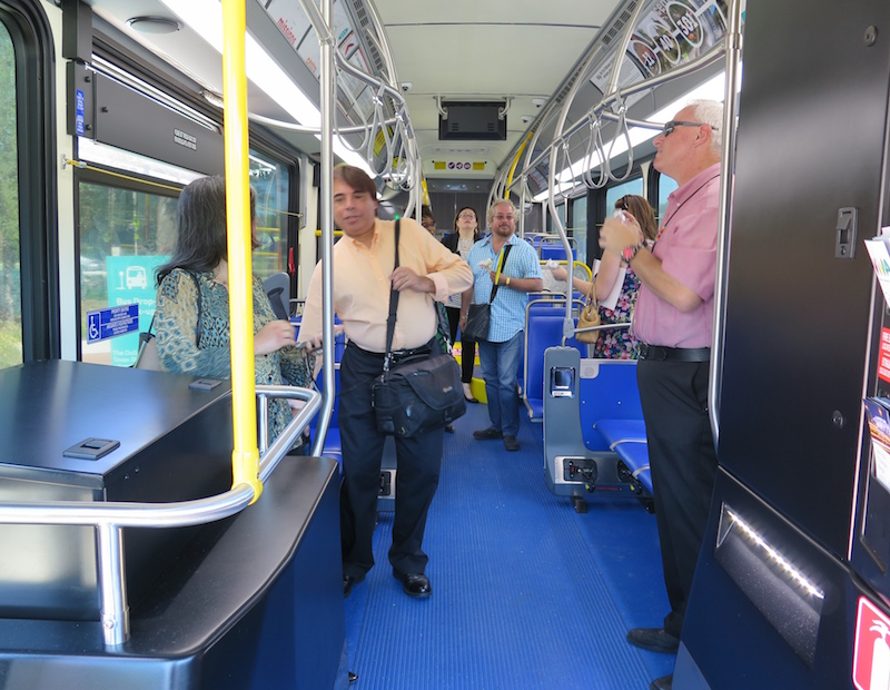 Locals explore the new VIVA Culture Bus. Photo by Katie Walsh.