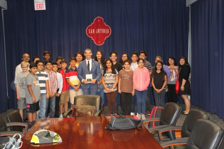 Councilman Ron Nirenberg (D8) encouraged students to get involved in various community services projects. Photo courtesy of the San Antonio Youth Program.