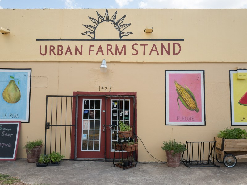 The entrance to Urban Farm Stand which faces South Presa Street. Photo by Scott Ball.