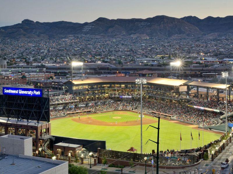 Southwest University Park is home to the El Paso Chihuahuas. Photo courtesy of Southwest University Ballpark.