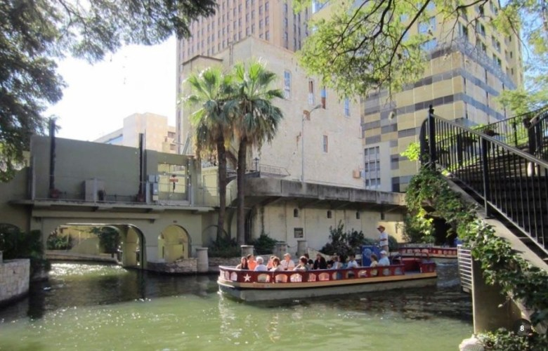 The Witte building from the river. Photo courtesy of the City of San Antonio.