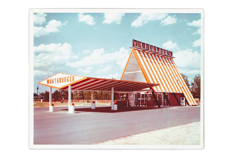 The A-frame Whataburger was both simple and iconic. Courtesy of Whataburger.