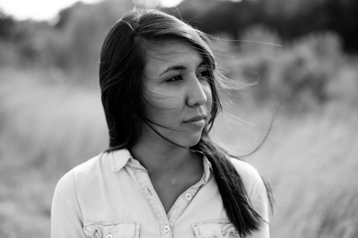 Araceli, 19, moved to Oregon from Mexico with her grandmother after her police officer mother was killed by gang violence. Photo by Kathryn Boyd-Batstone.