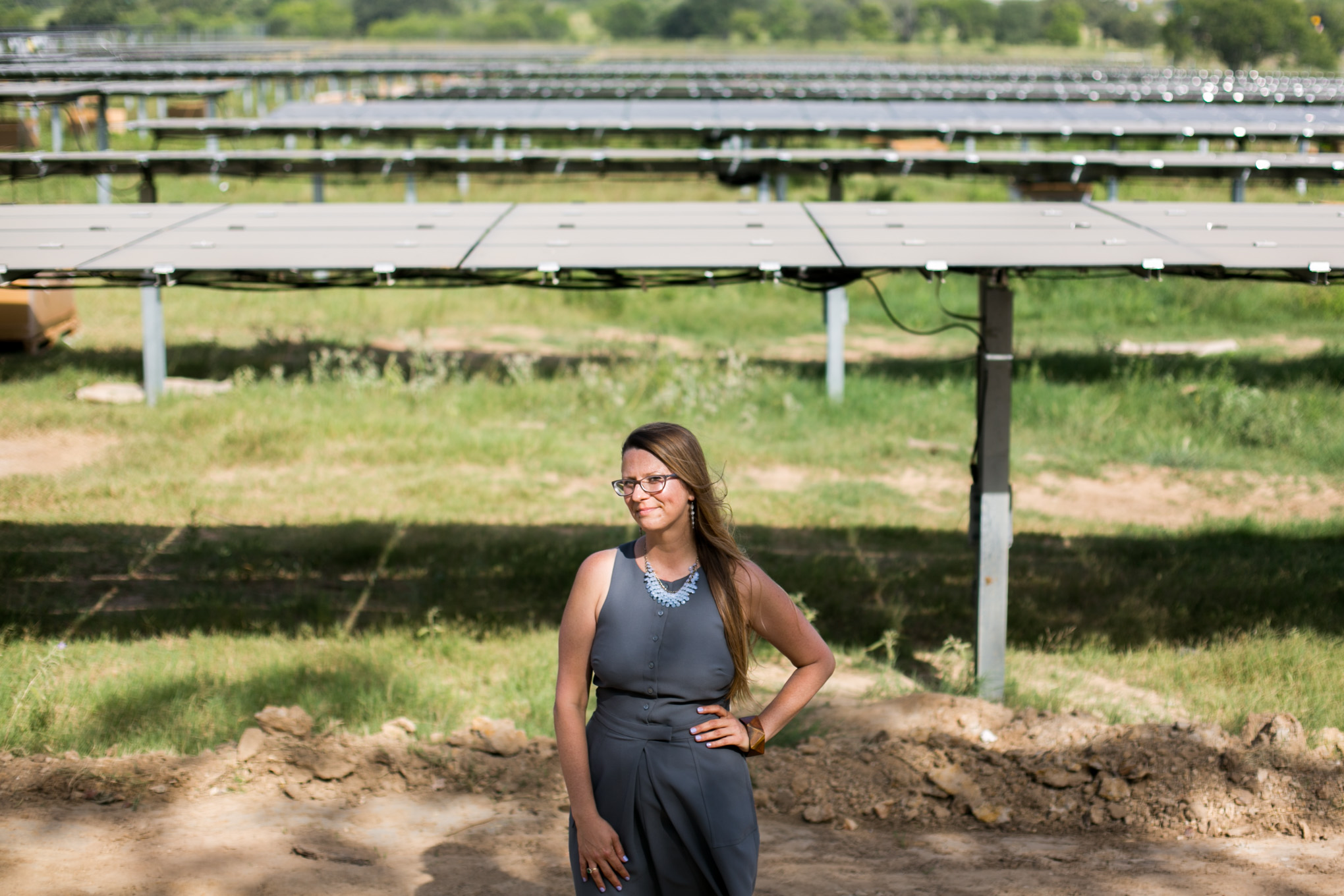 Build San Antonio Green Executive Director Anita Ledbetter wants to encourage homeowners and business owners to go solar by purchasing individual panels to offset their energy needs. Photo by Kathryn Boyd-Batstone.