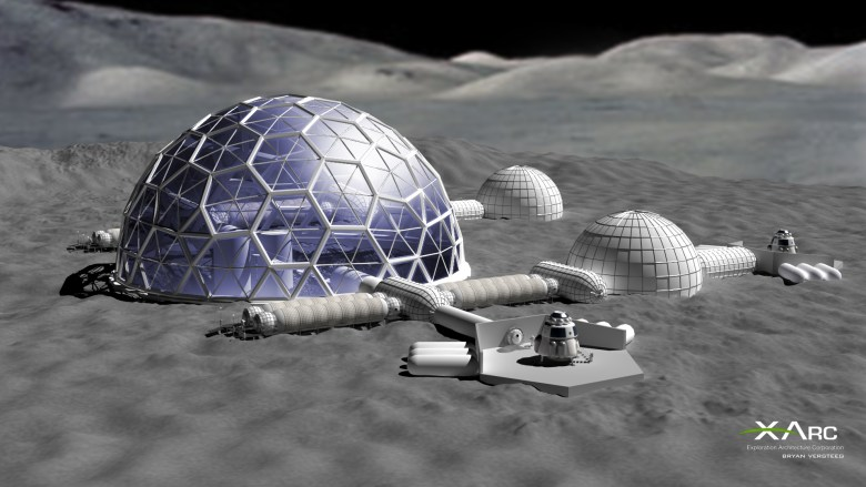 Technology from LCATS could be used to establish a long-term lunar colony.  Image courtesy of the Exploration Architecture Corporation