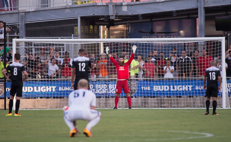 Image made during a USL soccer match between the Vancouver Whitecaps FC 2 and San Antonio FC, Saturday, July 16, 2016, at Toyota Field in San Antonio, Texas. San Antonio won 2-0. (Darren Abate/USL)
