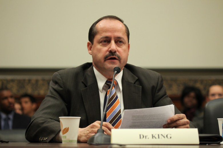 Dr. Daniel King, superintendent of the Pharr-San Juan-Alamo ISD, speaks at a conference. Photo courtesy of the U.S. House Committee on Education and the Workforce.