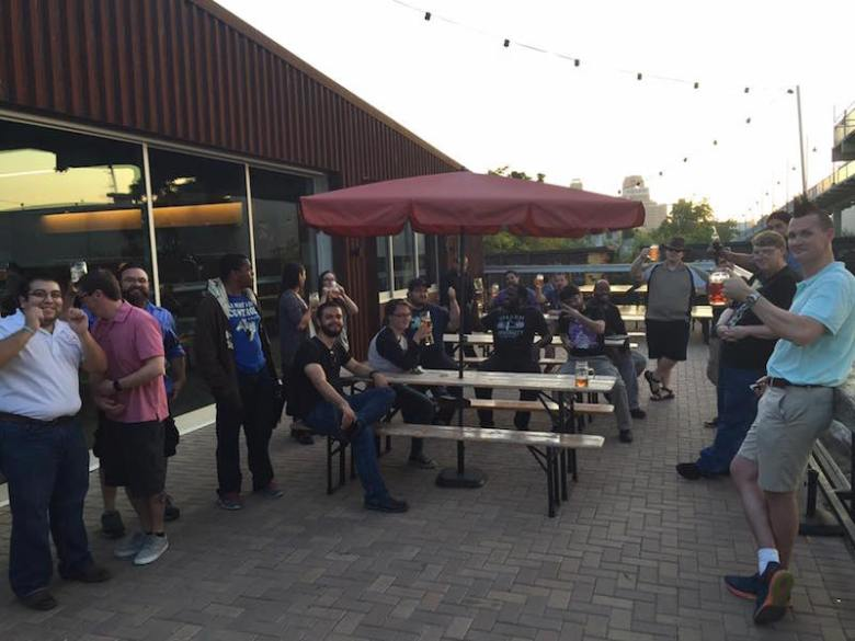 Members of the Greater Gaming Society meet at Alamo Brewing Company. Photo by Rick Stemm.