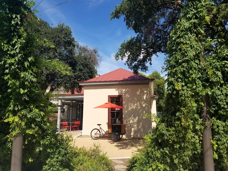 San Antonio B- Cycle and Paleteria San Antonio are located in the Pereida House at Yanaguana Garden. Photo by Iris Dimmick.