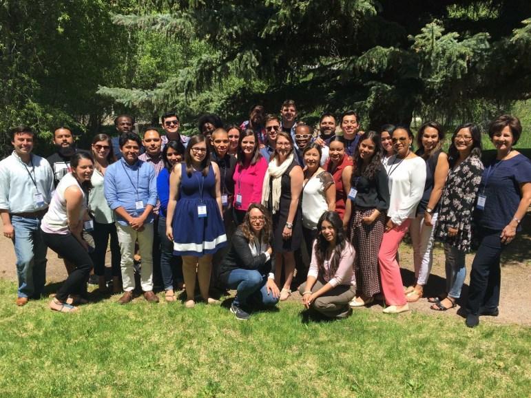 The participants of the Aspen Institute's Deep Dive: Increasing Latino Civic Potential, Millennials. Photo courtesy of Alberto Altamirano.