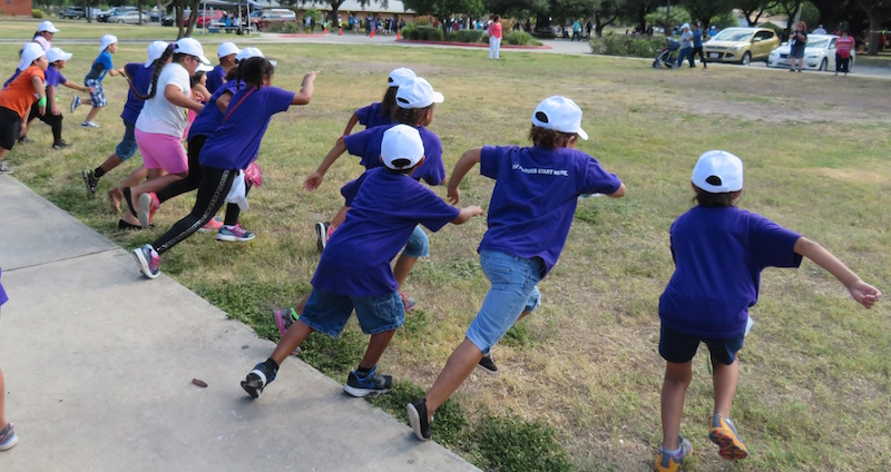 Children race during the 33rd annual Funlympics. Photo courtesy of the San Antonio CPA Society.