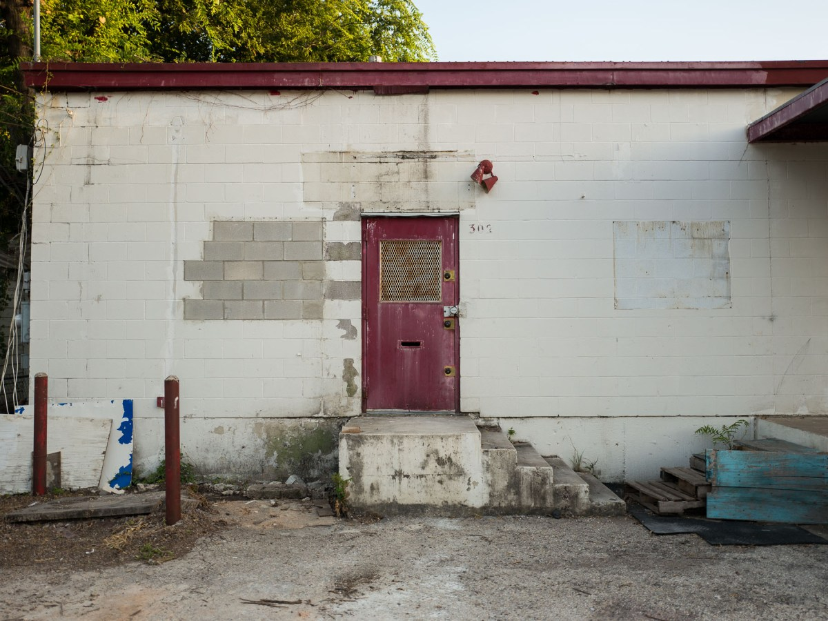 A side door leading to the future home of San Antonio Brewing Co. at 302 East LaChapelle in the city's Southside. Photo by Scott Ball.