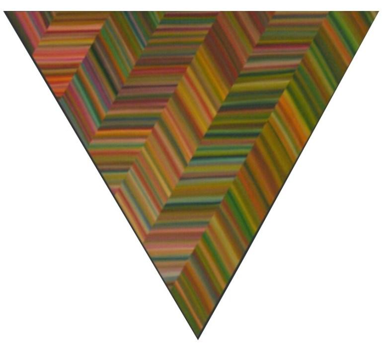 Triangles No. 2, 2006, oil on canvas. Photo courtesy of Louis Vega Treviño.